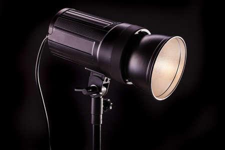 studio light strobes on black background Stock Photo - 14410739