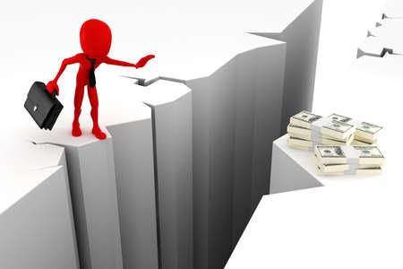 3d man, business motivation Stock Photo - 14485556