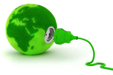 �cologie: 3d, concept de l'�nergie verte Banque d'images