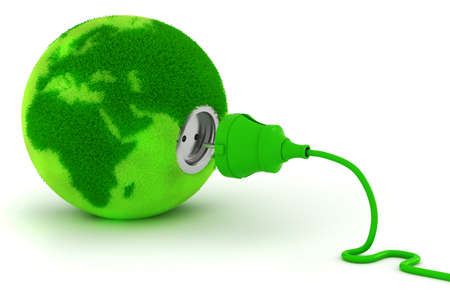 ecology: 3d, green energy concept Stock Photo