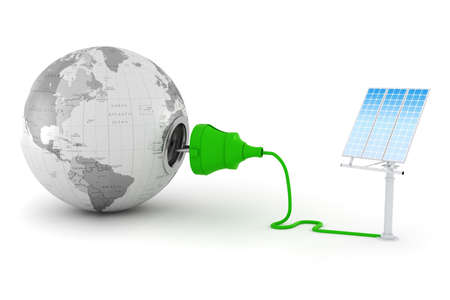 3d, green energy concept Stock Photo - 14526309