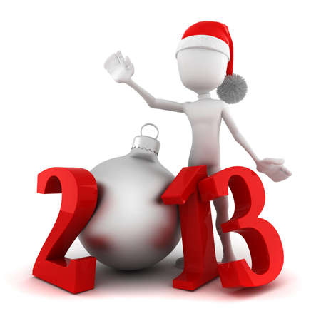 3d man, Happy new year 2013  photo