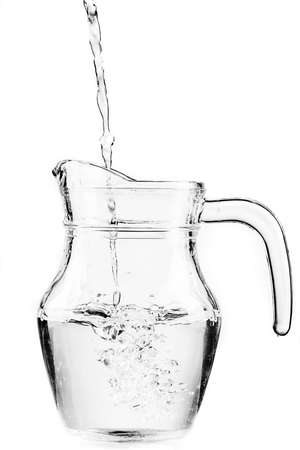 fresh water in a glass pitcher photo
