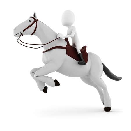3d man riding a horse photo