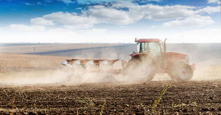 agriculture tractor-landscape Stock Photo - 15568991