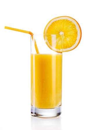 verre de jus d orange: jus d'orange frais
