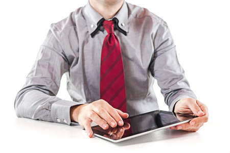 young  business man executive using a digital pc tablet photo