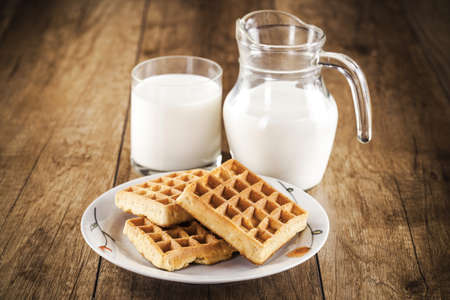 fresh healthy milk and cookies photo