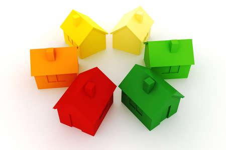 3d house green energy concept Stock Photo - 16904790