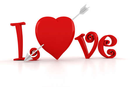 3d Love text, Valentine Stock Photo - 17204982