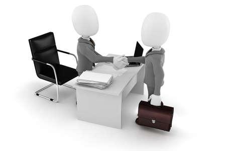 casual business meeting: 3d man businessman deal