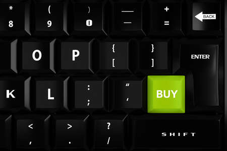 3d buy key and keyboard Stock Photo - 17909292