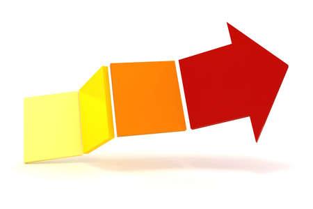 3d arrow on white background Stock Photo - 18213549