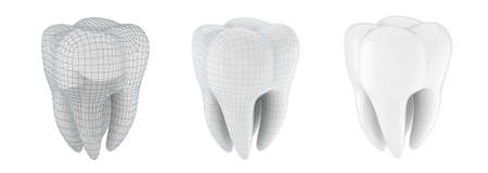 3d tooth on white background Stock Photo - 18708598