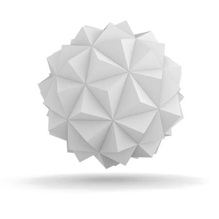 geometria: 3d objeto abstracto para su dise�o Foto de archivo