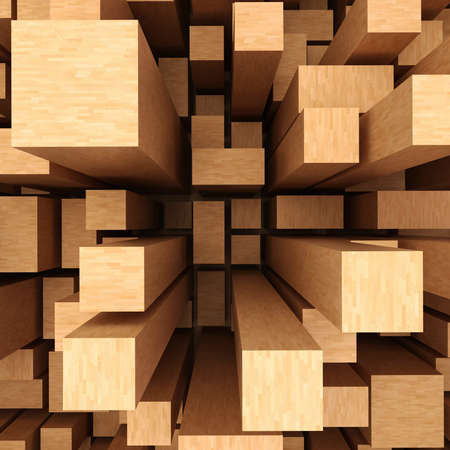 wooden blocks: 3d abstract wooden background