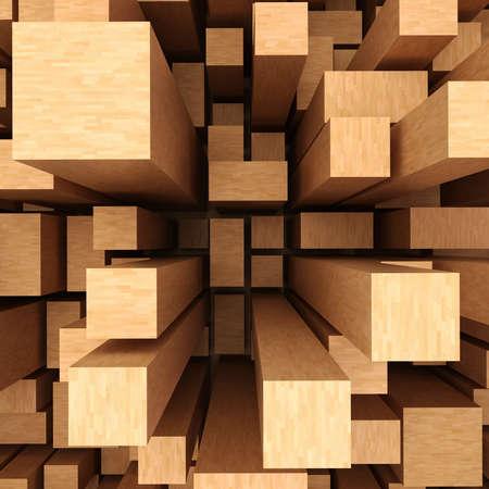 wooden pattern: 3d astratto sfondo di legno Archivio Fotografico