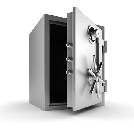 3d vault on white background photo