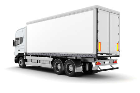 power delivery: 3d truck on white background