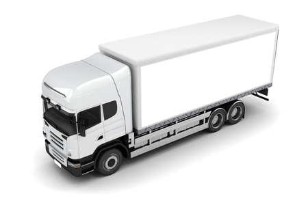 白い背景の上の 3 d のトラック
