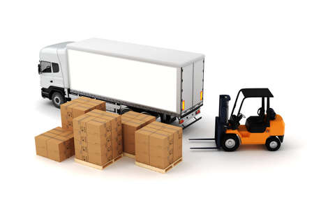 3d global cargo transport concept Stock Photo - 19845442