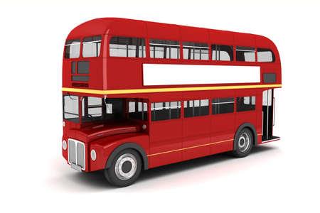 english bus: 3d bus de Londres sur fond blanc