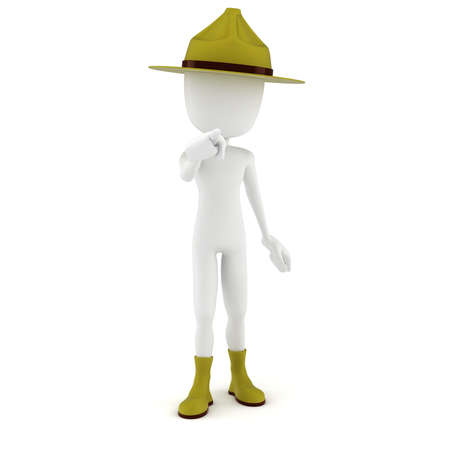 drill: 3d man drill sergeant pointing at you   Stock Photo