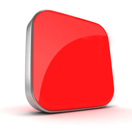 3d blank red element for your design Stock Photo - 20331227