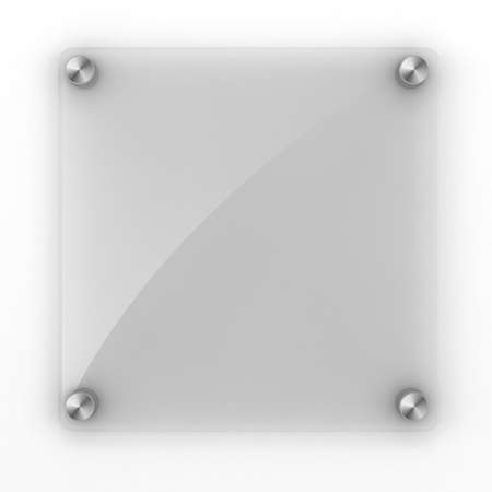 3d blank glass element for your design photo