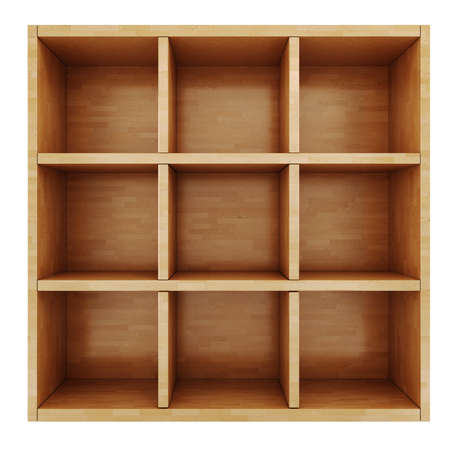 3d wooden shelf photo