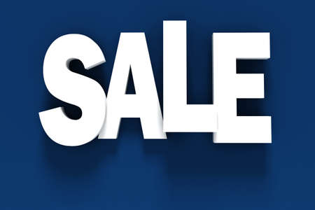 3d BIG SALE text on white background Stock Photo - 20836209