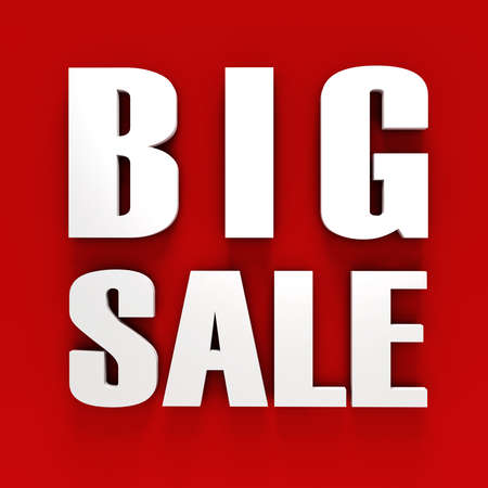 3d BIG SALE text on white background Stock Photo - 20836210
