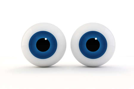 eye ball: 3d eyes on white background