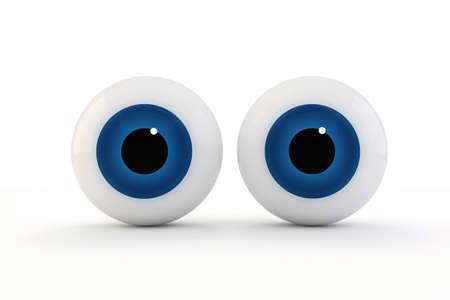 globo ocular: Ojos 3d en el fondo blanco