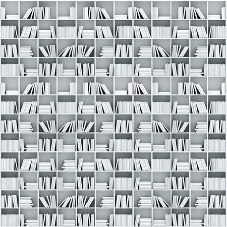 3d books on shelf photo