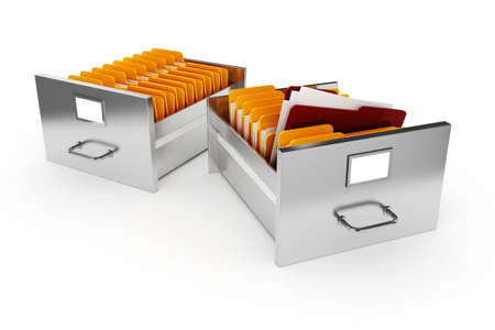 filing cabinet: 3d file cabinet on white background