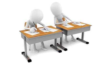3D Man im Klassenzimmer, Exam test