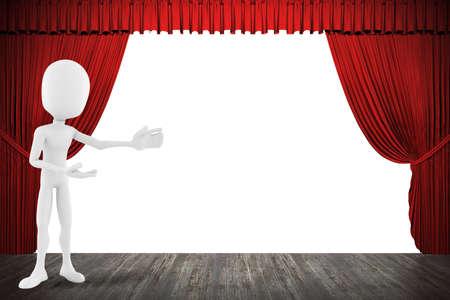 3D Mann auf der Bühne