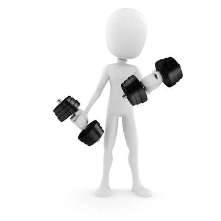 man lifting weights: 3d man lifting weights