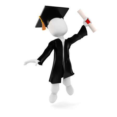 Kursteilnehmer des Mannes 3d Graduierung