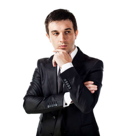 the view option: portrait of young businessman Stock Photo