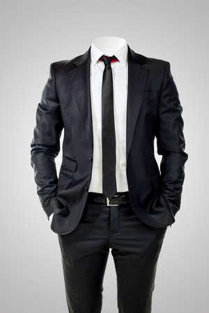 lazo negro: Hombre de negocios sin cabeza Foto de archivo