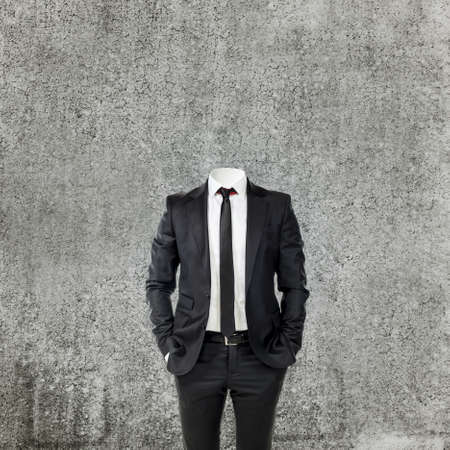 formal clothes: business man without head