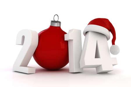 3D frohes neues Jahr 2014!