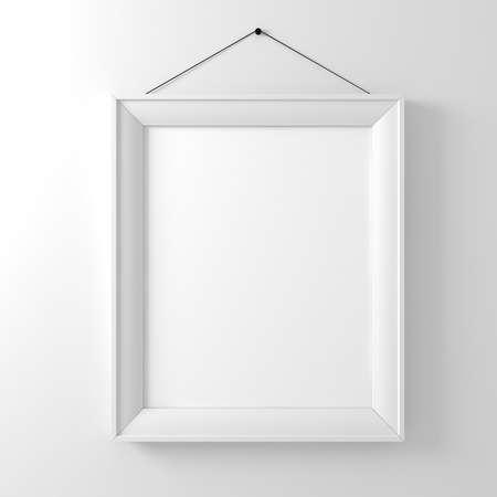 leeren Rahmen auf weiße Wand