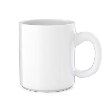 3d cup on white background Stock Photo - 22735380