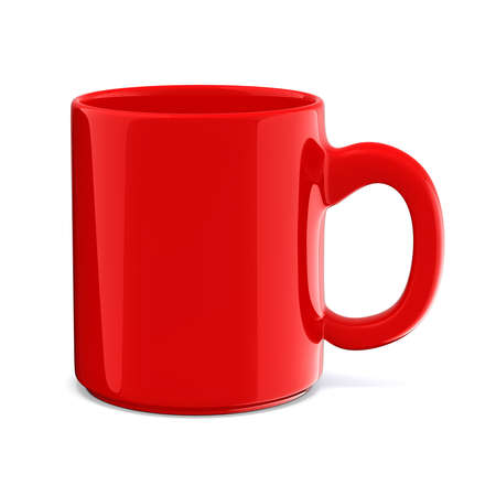 3d cup on white background Stock Photo - 22735383