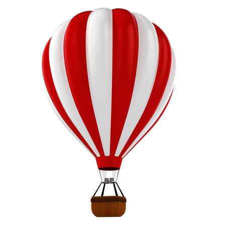 3d bunten Heißluftballon