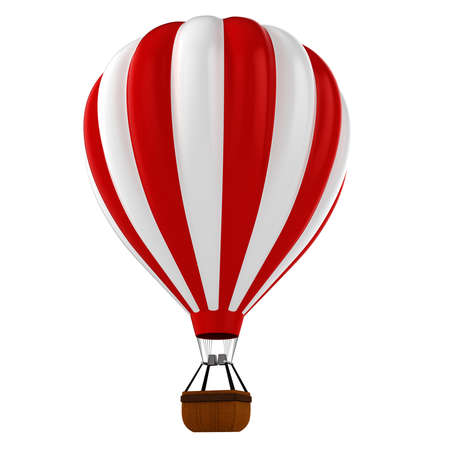 hot air balloon: 3d colorful hot air balloon