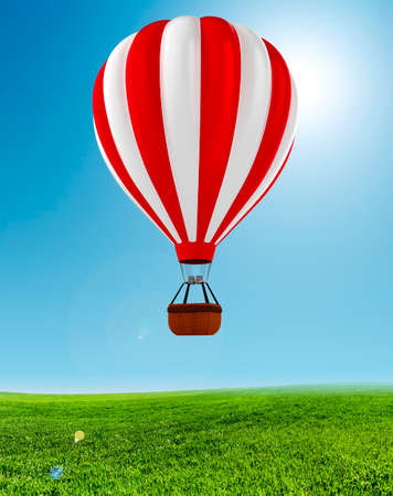 3d colorful hot air balloon photo